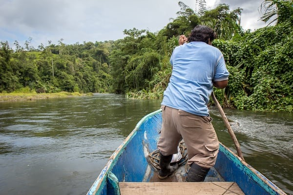 Boating to the Yorkin Indigenous Community in Costa Rica