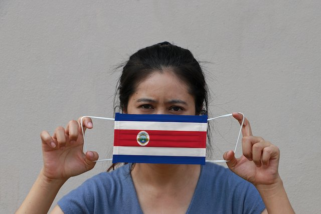 Costa Rica Flag Face Mask