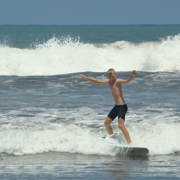 Surfing in Jaco Beach (Costa Rica)