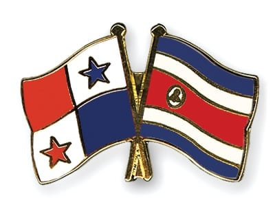 Costa Rica & Panama Flags