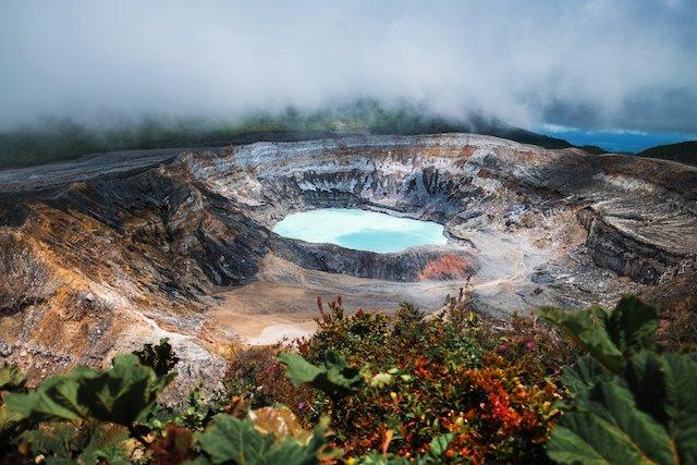 Costa Rica Poás Volcano.