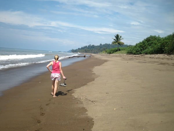 Costa Rica beach march