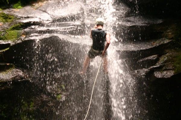 Waterfall Repelling: Costa Rica Spirit Trekker Adventure Vacation Itinerary