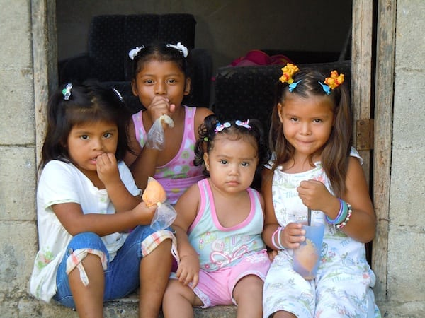 Tico girls of the The Arenal Orphanage
