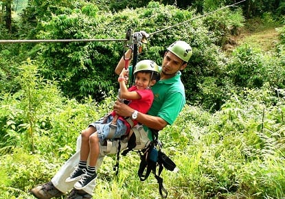Costa Rica Zipline Experience while on Volunteer Trip