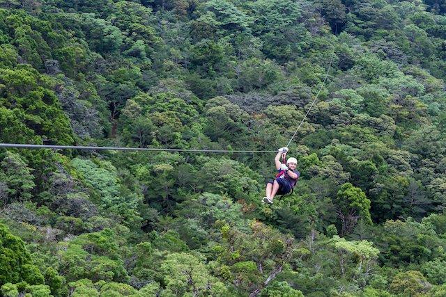 Costa Rica zip line.