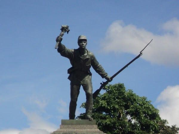Monument of Juan Santamaria in the Juan Santamaria Plaza