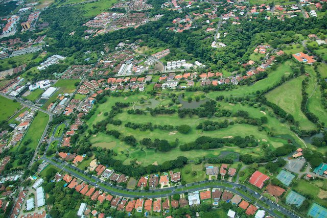 santa ana golf course aerial view