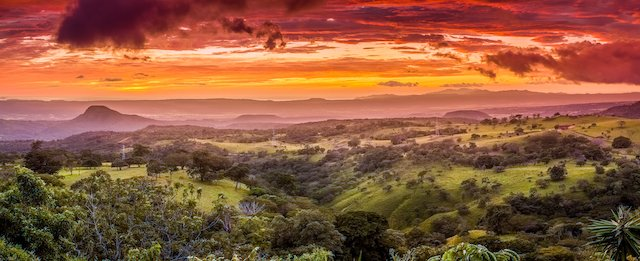 gorgeous aerial view of Santa Rosa National Park, Costa Rica