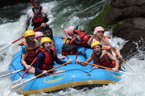 Pacuare River Rafting Trip on a Costa Rica Honeymoon Vacation