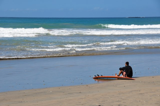 surfing at Nicoya Peninsula, Costa Rica